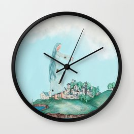 Dreaming of the Island Wall Clock