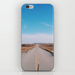 Good road for travelin' on iPhone Skin