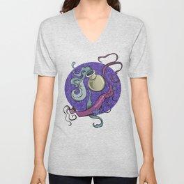 Aquarius zodiac Unisex V-Neck