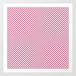 Raspberry Sorbet Polka Dots Art Print