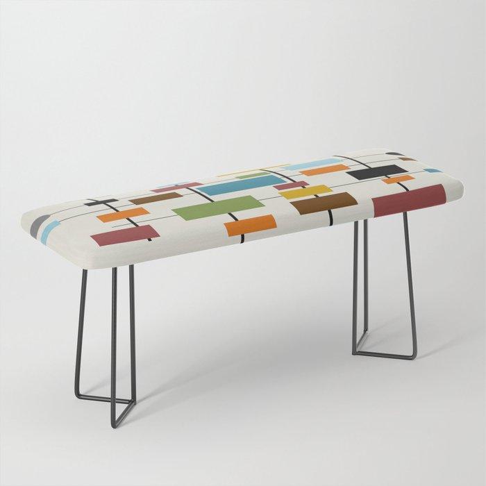 Mid-Century Modern Art 1.3 Bench