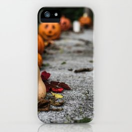 Pumpkin, Ground And Pathways, Candle iPhone Case