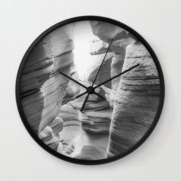 ANTELOPE CANYON XXXVII (B+W) Wall Clock