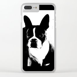 Boston Terrier Love Clear iPhone Case