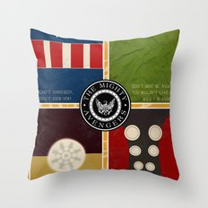 The Mighty Avengers Throw Pillow