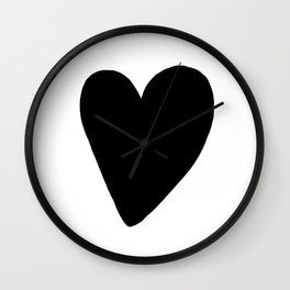 Black Heart, kids room and nursery deco Wall Clock