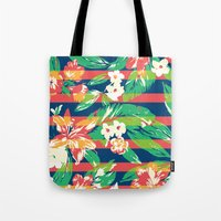 tropical Tote Bags featuring Tropical by Steven Toang