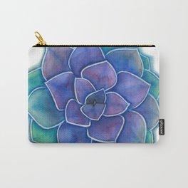 Purple Succulent Plant Carry-All Pouch