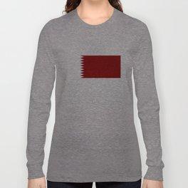 Qatar country flag Long Sleeve T-shirt