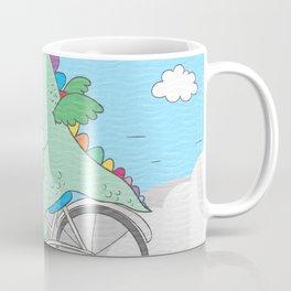 Chibi Dragon on Bicycle with Girl Coffee Mug