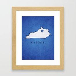 Kentucky Wildcats Framed Art Print