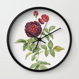 Vintage One Hundred Leaved Rose Wall Clock