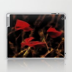 Glowing poppys Laptop & iPad Skin