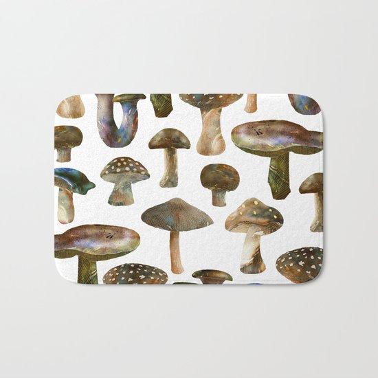 Mushroom Pattern Bath Mat