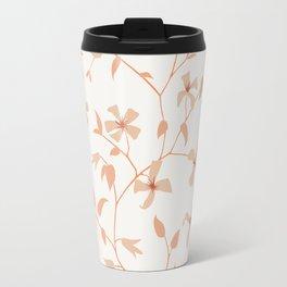 Floral Clematis Vine Travel Mug