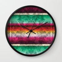 mexico Wall Clocks featuring Mexico by Joanna Tadger