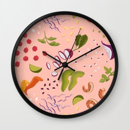 Taco Rosa Wall Clock