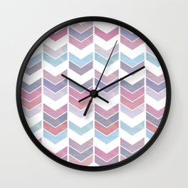 Colorful arrows pattern Wall Clock