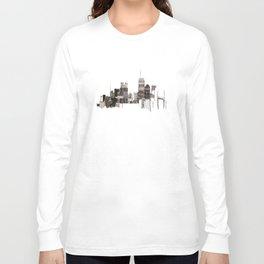 unfinished skyline Long Sleeve T-shirt