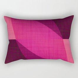 Berry Geo Shapes - Modern Mid Century Rectangular Pillow