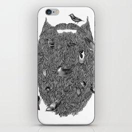 Bird Beard iPhone Skin