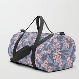 Sakura Branch Pattern - Rose Quartz + Serenity Duffle Bag