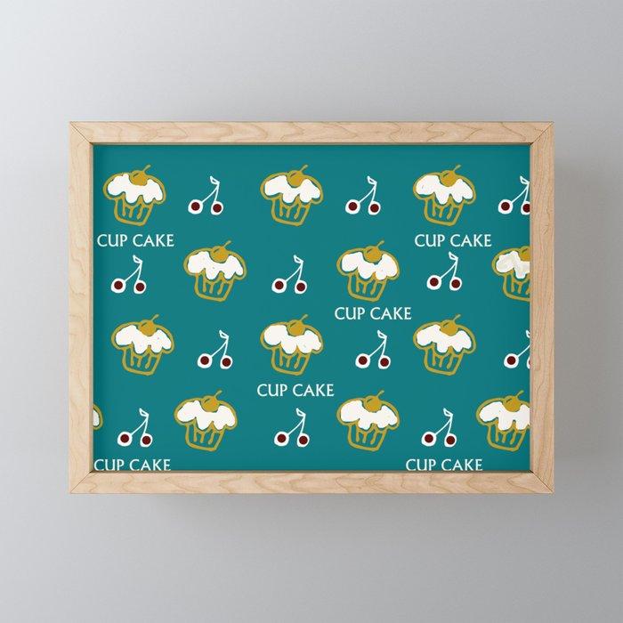 Cup cake2 Framed Mini Art Print