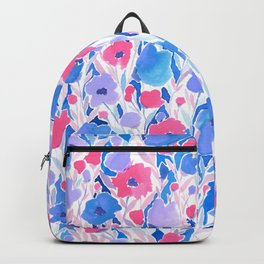 Flower Field Lilac Blue Backpack
