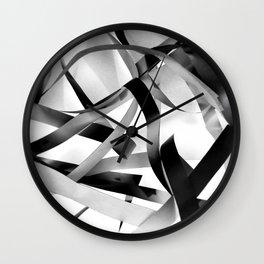 Black paper stripes Wall Clock