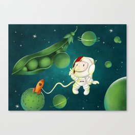 Green Peas Galaxy Canvas Print
