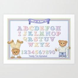 Teddy Bear Alphabet ABC's Art Print