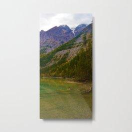 Mt Robson as seen from Kinney lake in the Canadian Rockies Metal Print