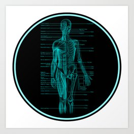 Always Learning: Awesome Anatomy Art Print