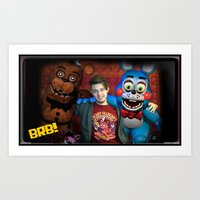 "fnaf Art Prints featuring FNAF FRIENDS by ""Neverodd Inks"""