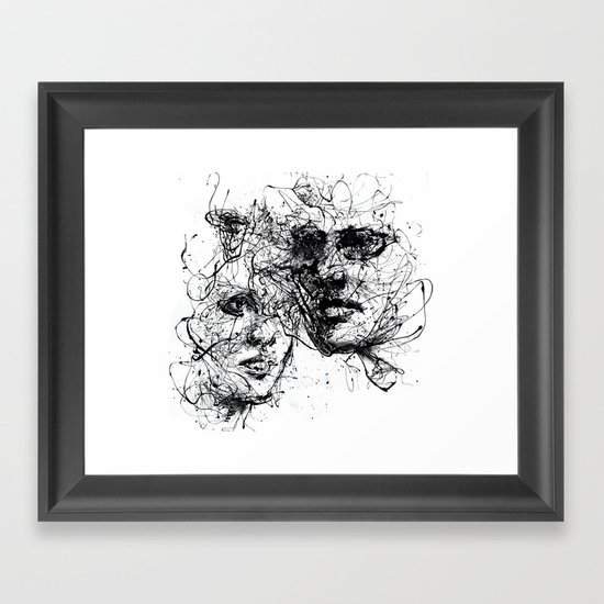 our lines, our story, it isn't a linear path Framed Art Print