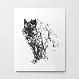 Dark Wolf Metal Print