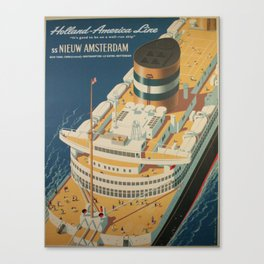 Vintage poster - Cruise ship Canvas Print