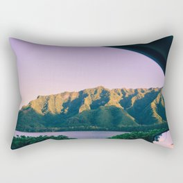 Hawaii Out the Window Rectangular Pillow