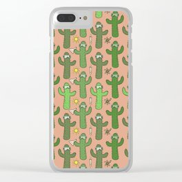 Chemistry Cacti Clear iPhone Case