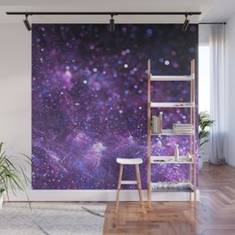 purple glitter Wall Mural