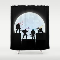 teenage mutant ninja turtles Shower Curtains featuring Teenage Mutant Ninja Turtles by offbeatzombie