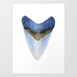 Blue Shark Tooth Art Print