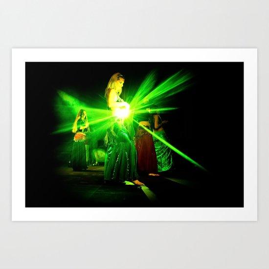 GreenSun Dance Art Print