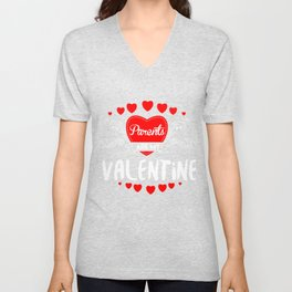 Parents Are My Valentine Saint Valentine Love Hearts Cupid Valentinus Gift Unisex V-Neck
