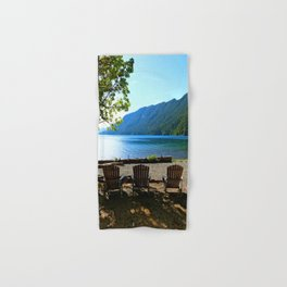 Adirondack Chairs at Lake Cresent Hand & Bath Towel