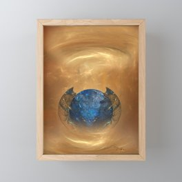 Birth of a planet Framed Mini Art Print