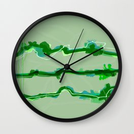 Fluffy lines twisting and turning no. 20 Wall Clock