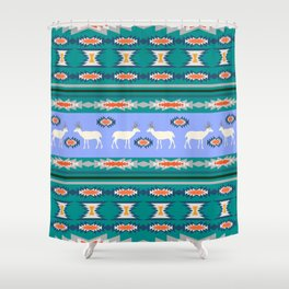 Decorative Christmas pattern with deer II Shower Curtain
