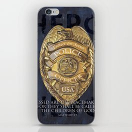 Blessed Are The Peacemakers iPhone Skin