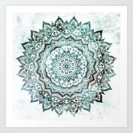 Emerald Jewel Mandala Art Print